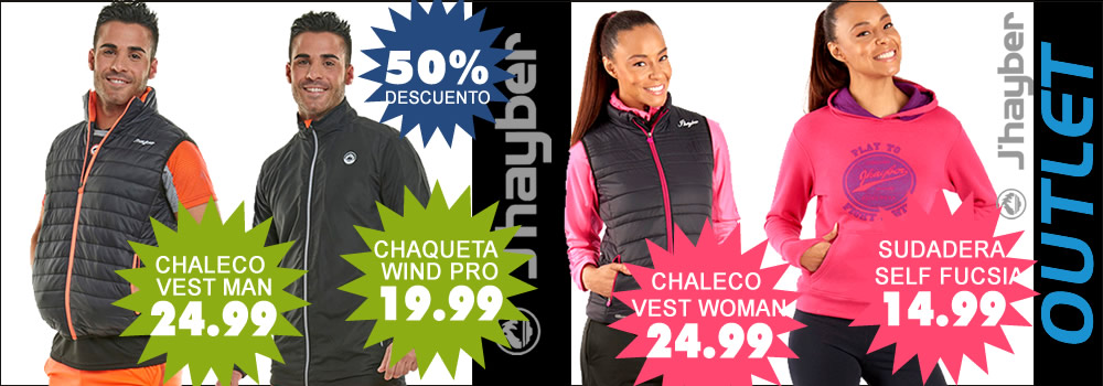 outlet jhayber chalecos, sudaderas, chaquetas